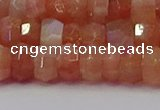 CRB1931 15.5 inches 5*8mm faceted rondelle sunstone beads
