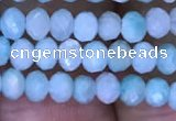 CRB1985 15.5 inches 3*4mm faceted rondelle amazonite gemstone beads
