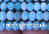 CRB1986 15.5 inches 3*5mm faceted rondelle amazonite gemstone beads