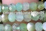 CRB2259 15.5 inches 3*5mm faceted rondelle Australia chrysoprase beads