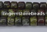 CRB2506 15.5 inches 6*8mm rondelle dragon blood jasper beads