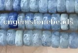 CRB2553 15.5 inches 2*4mm heishe blue aventurine beads wholesale