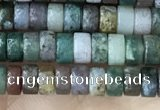 CRB2560 15.5 inches 2*4mm heishe Indian agate beads wholesale