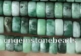 CRB2562 15.5 inches 2*4mm heishe Qinghai jade beads wholesale