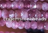 CRB2610 15.5 inches 2*3mm faceted rondelle ruby gemstone beads