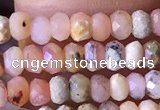 CRB2613 15.5 inches 2*3mm faceted rondelle pink opal beads
