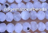 CRB2623 15.5 inches 2*3mm faceted rondelle white moonstone beads