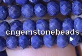 CRB2644 15.5 inches 2*3mm faceted rondelle sapphire gemstone beads