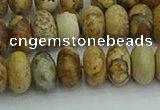 CRB2857 15.5 inches 6*10mm rondelle picture jasper beads