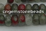 CRB2872 15.5 inches 6*10mm rondelle blood jasper beads