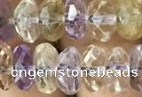 CRB3020 15.5 inches 5*9mm faceted rondelle ametrine beads