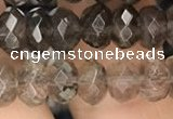 CRB3023 15.5 inches 5*8mm faceted rondelle smoky quartz beads