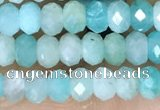 CRB3155 15.5 inches 2.5*4mm faceted rondelle tiny amazonite beads
