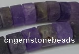 CRB318 15.5 inches 8*12mm tyre matte amethyst gemstone beads