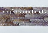 CRB3203 15.5 inches 2.5*3.5mm faceted rondelle mixed quartz beads