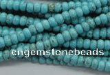 CRB36 15.5 inches 3*4mm rondelle synthetic turquoise beads