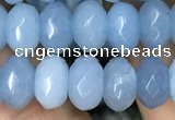 CRB4114 15.5 inches 5*8mm faceted rondelle candy jade beads