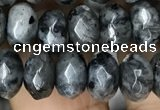 CRB4121 15.5 inches 5*8mm faceted rondelle black labradorite beads