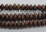CRB44 15.5 inches 5*8mm rondelle stripe jasper gemstone beads