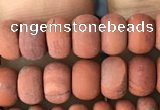 CRB5014 15.5 inches 4*6mm rondelle matte red jasper beads wholesale