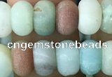 CRB5020 15.5 inches 4*6mm rondelle matte amazonite beads wholesale
