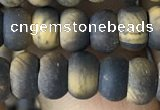 CRB5024 15.5 inches 4*6mm rondelle matte yellow tiger eye beads