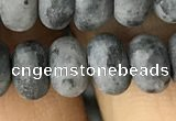 CRB5076 15.5 inches 5*8mm rondelle matte labradorite beads wholesale