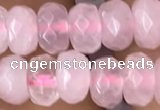 CRB5100 15.5 inches 4*6mm faceted rondelle rose quartz beads