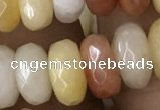 CRB5154 15.5 inches 5*8mm faceted rondelle yellow jade beads