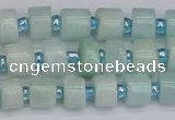 CRB530 15.5 inches 5*8mm tyre Chinese amazonite beads wholesale