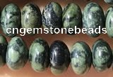 CRB5310 15.5 inches 4*6mm rondelle green picture jasper beads