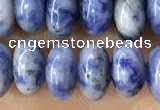 CRB5354 15.5 inches 5*8mm rondelle blue spot stone beads wholesale