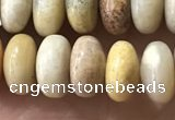 CRB5355 15.5 inches 5*8mm rondelle fossil coral beads wholesale