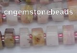 CRB543 15.5 inches 6*10mm tyre natural pink opal gemstone beads