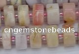 CRB544 15.5 inches 6*12mm tyre natural pink opal gemstone beads
