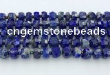 CRB5629 15.5 inches 6*9mm – 9*10mm faceted rondelle lapis lazuli beads