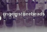 CRB569 15.5 inches 8*18mm faceted rondelle amethyst beads