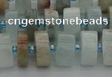 CRB647 15.5 inches 6*12mm tyre aquamarine gemstone beads