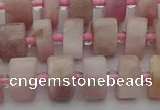 CRB652 15.5 inches 6*10mm tyre morganite gemstone beads