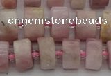 CRB653 15.5 inches 6*12mm tyre pink kunzite gemstone beads