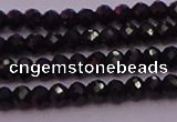 CRB705 15.5 inches 2*3mm faceted rondelle black spinel beads