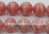 CRC102 15.5 inches 18mm round natural argentina rhodochrosite beads