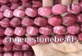 CRC1060 15.5 inches 13*18mm twisted rice rhodochrosite beads