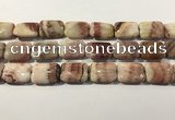 CRC1101 15.5 inches 18*25mm rectangle rhodochrosite beads