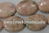 CRC307 15.5 inches 18*25mm oval Peru rhodochrosite beads