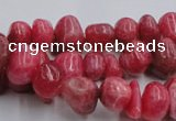 CRC35 15.5 inches 6*8mm - 8*10mm dyed rhodochrosite nuggets beads