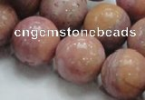 CRC56 15.5 inches 20mm round rhodochrosite gemstone beads wholesale