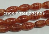 CRC568 15.5 inches 8*14mm rice imitation rhodochrosite beads