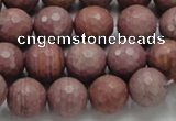 CRC60 15.5 inches 12mm faceted round rhodochrosite gemstone beads