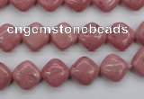 CRC681 15.5 inches 10*10mm diamond rhodochrosite beads wholesale